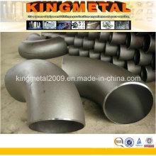 Coude de garnitures de tuyau d'acier au carbone Sch40 de 90 degrés