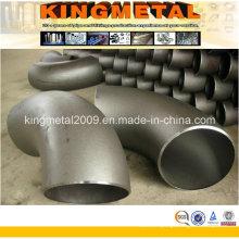 Cotovelo dos encaixes de tubulação do aço carbono Sch40 de 6 polegadas de 90 graus