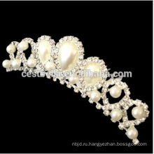 Элегантный игристое Кристалл Свадебные Корона декоративные диадемы с волосы гребень