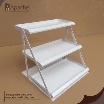 Metal Material Supermarket Multilayer Counter Display Stand