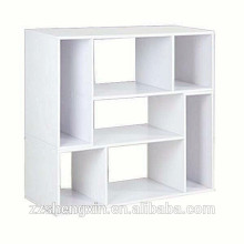 White Panel Book Rack Multi-tier Wood Book Shelf