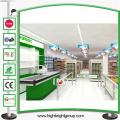 Estantería de supermercado de encargo durable de la tienda de ultramarinos para la tienda de ultramarinos