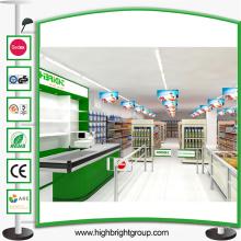 Étagère de supermarché en acier épicerie
