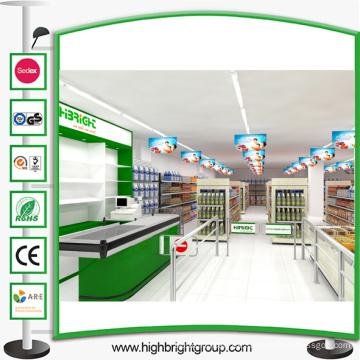 Estantería de supermercado de acero Tienda de supermercado