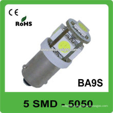 High quality BA9S 5 SMD 5050 DC12V&24V car led lamp ,CE and Rohs , 3 years warranty