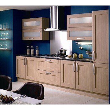 Customized PVC Vacuum Kitchen Cabinets Cupboard for Hotel Project