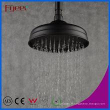 Fyeer Style européen 8 Pouces Round Pomme de douche pluie noire