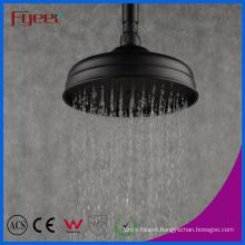 Fyeer European Style 8 Inch Round Black Rainfall Shower Head