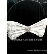 ceinture de chaise de polyester rose charmante pour mariage et banquet
