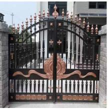 Popular modern design home wrought iron gate design
