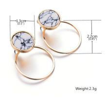 Moda brincos turquesa simples geométricos de mármore