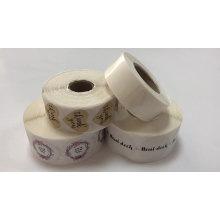 Autocollant imperméable de label de polypropylène de vinyle de logo adhésif d'impression faite sur commande