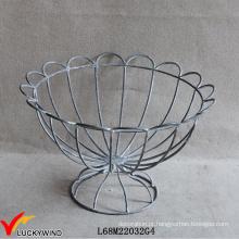 Francês, vintage, wirework, urna, decorativo, metal, fio, cesta