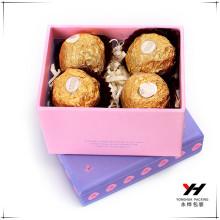 Dernière boîte de papier de cadeau de conception avec votre propre logo pour la boîte de chocolat
