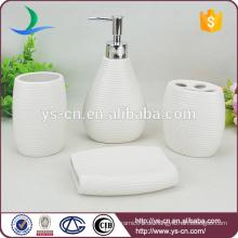 Keramik-Bad-Accessoires, Porzellan-Bad-Set, weißer Porzellan