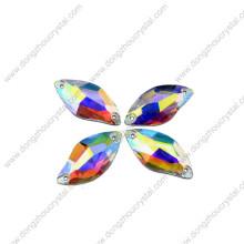 Chine gros dos plat coudre sur des perles de verre pour accessoire de vêtement