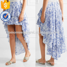 New Fashion Tiered Ruffled Asymmetric Summer Mini Daily Skirt DEM/DOM Manufacture Wholesale Fashion Women Apparel (TA5003S)