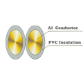 Aluminum Conductor PVC Insulation Electrical Wires