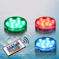 10 LED Multicolor Pool Tauch Wasserdichte Party Tee Floralytes Vase Basis Fernbedienung unter Wasser Led Piscina Teelicht
