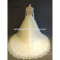 Professionelle China-Fabrikspitze lange Hülse kurze Hochzeitskleider einteilige Mädchen-Parteikleider