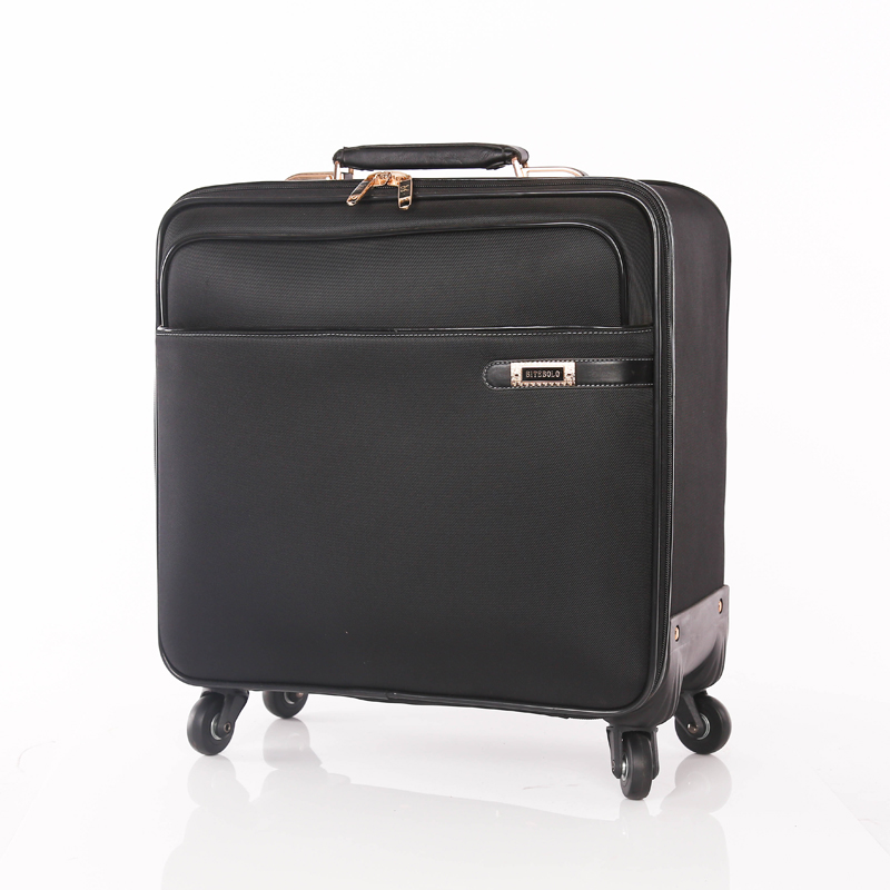 Low price PU leather luggage bags