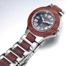 Relógio de pulso de bambu do relógio de madeira dos homens novos do estilo