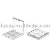 Косметическая упаковка квадратных палитры теней для век 4 цвета