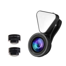 Lensa Kamera Wewow Fish eye LED light