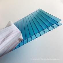 panneau policarbonate --Grade Une feuille de polycarbonate creuse à double paroi Lexan