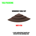Brown Flat Linen Jewelry Display Counter Stand Wholesale (WST-P20)
