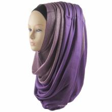 Marca de luxo whosale nova tendência mulheres dubai estilos gradiente rampa lantejoula lenço muçulmano hijab
