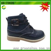 Темно-синего цвета, высокий каблук Оптовая ковбойские сапоги для детей