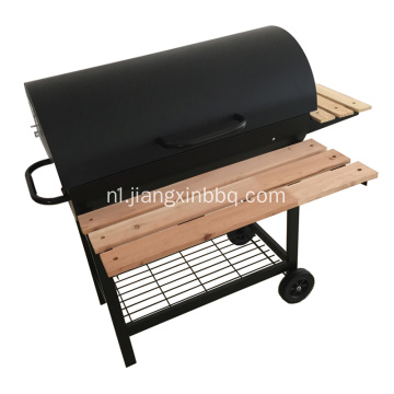 Oil Drum Charcoal Barbecue Grill