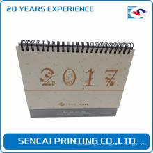 Nuevo diseño de calendario de estilo de caja de papel por encargo Calendario de escritorio mensual para promoción