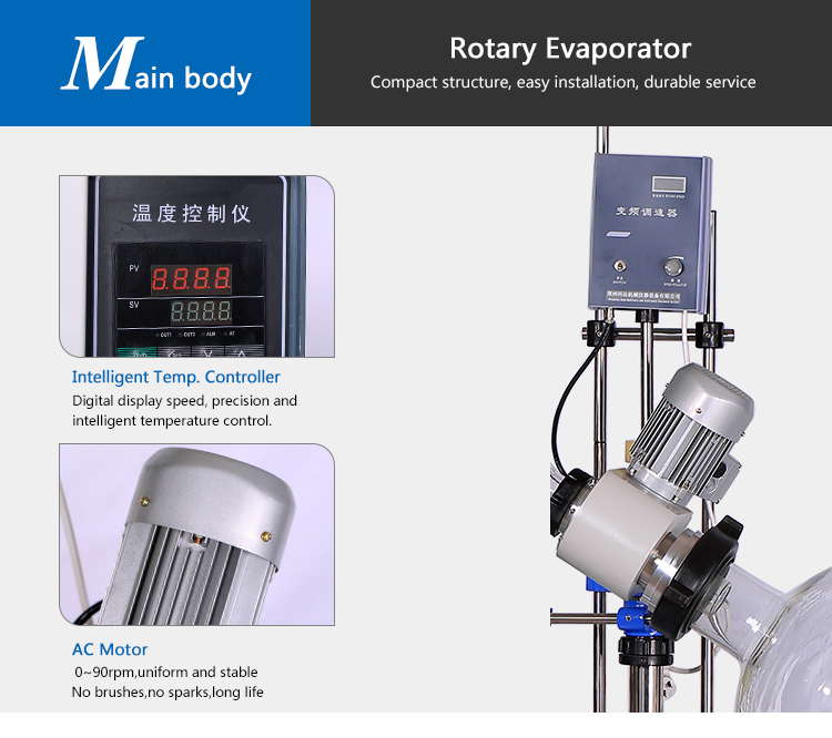 Teflon Industrial Rotary Evaporator with Water Bath