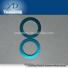 Custom CNC anodizado azul lavadoras de alumínio