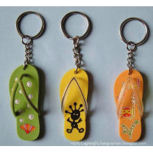 Custom Cute Promotional Shoes Shape PVC Lovely Keychain (GZHY-HA-012)