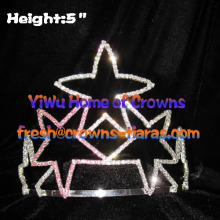 Crystal Star Shaped Pageant Crowns