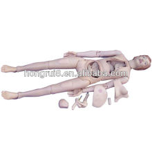 ISO-Qualität weibliche Patienten-Pflege-Trainings-Simulator, Krankenpflege-Mannequin