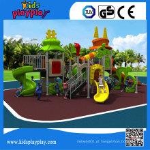 Recreio ao ar livre plástico do equipamento comercial da corrediça das crianças de Kidsplayplay