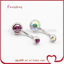 Forme la joyería piercing cristalina del anillo del vientre del ombligo
