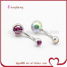 Fashion crystal navel belly ring body piercing jewelry
