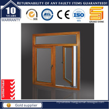 Wood Transfer Aluminium Alloy Casement Windows