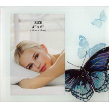 Beautiful Butterfly Glass Photo Frame