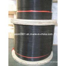 Cabo revestido PVC do aço inoxidável, fio de aço, corda de fio, fio de aço inoxidável