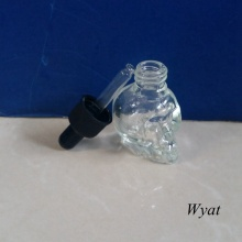 30ml Skull Head Glass Dropper Bottle Glass Essential Oil Bottle with Childproof Cap