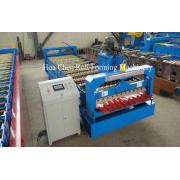 PLC Control Hydraulic Wall Panel Roll Forming Machine 0.3-0
