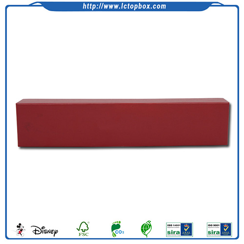 Red long shape lid-off packaging boxes