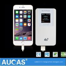 Routeur wifi 4g à quatre feux double carte SIM sans fil