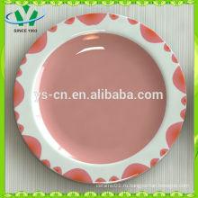 Китай Посуда Новый дизайн Ручная роспись Оптовая керамическая плита фруктов